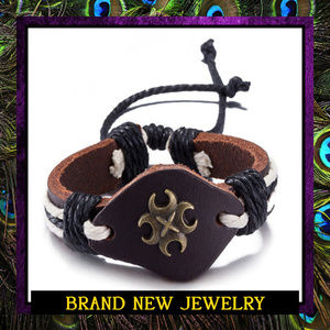Unisex Adjustable Leather Boho Bracelet #404